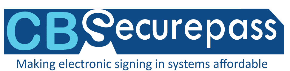 cbsecurepass visitor management system logo